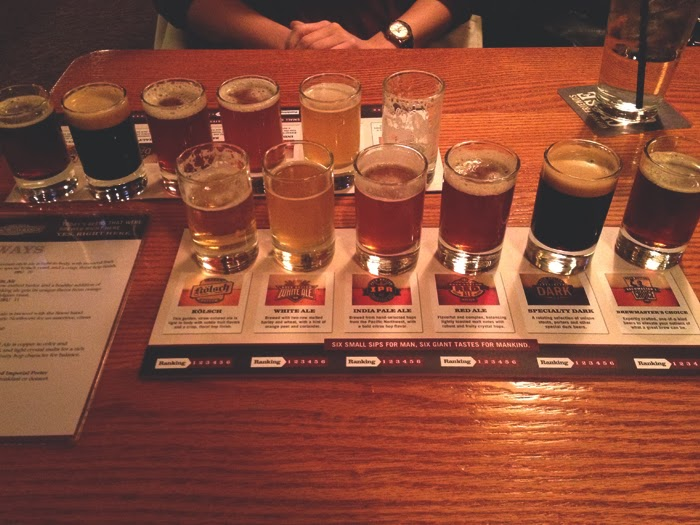 Rock Botton Brewery Portland Oregon Beer Sampler