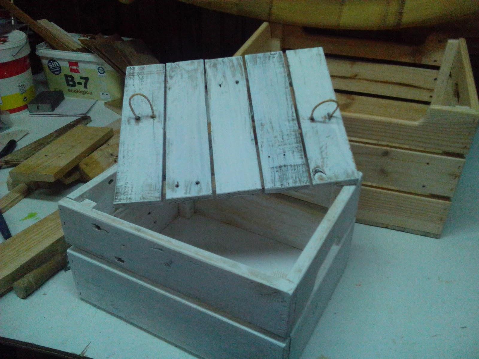 cajas recicladas hechas con madera de palets para juguetes etc abiertas o con tapa cajn grande xxcajn pequeo xx