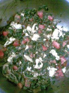 tofu and palak bhurji