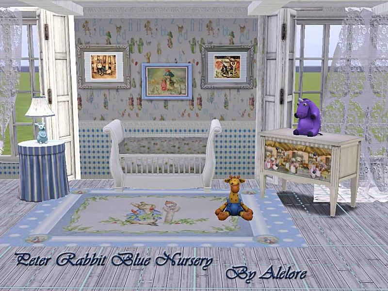 my sims 3 blog peter rabbit blue nursery set by alelore. Black Bedroom Furniture Sets. Home Design Ideas