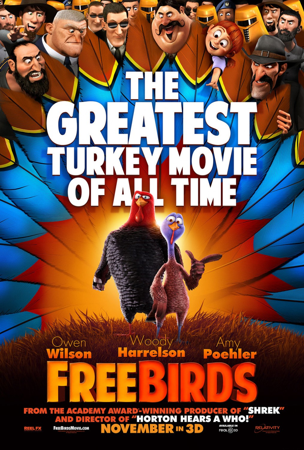 """Free Birds"" Official Poster - ""The Greatest Turkey Movie Of All Time"""