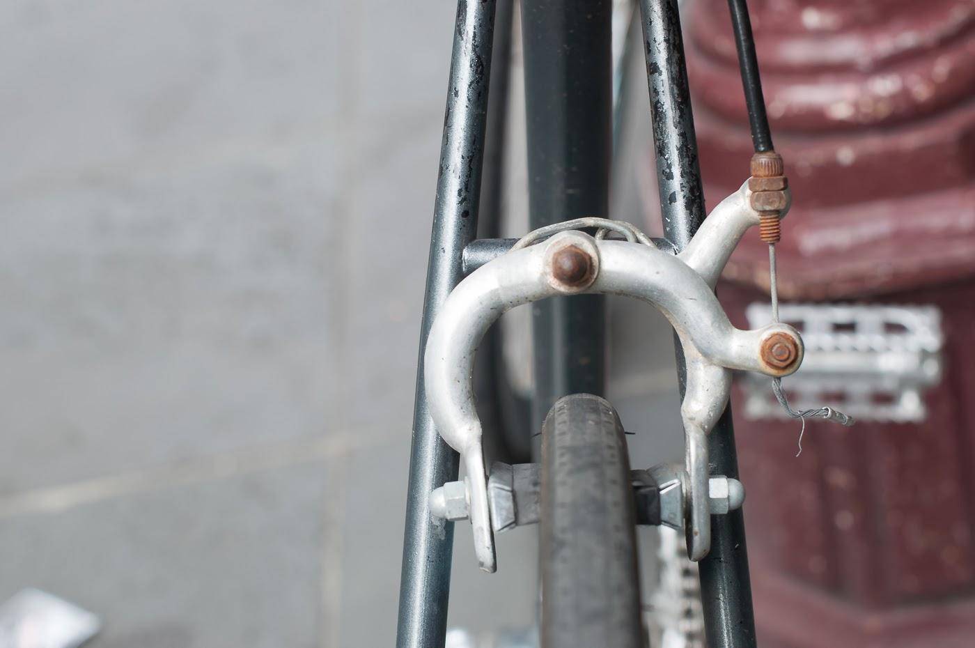 single speed, bike, bicycle, tim macauley, the biketorialist, melbourne, conversion, road bike,  bourke st, custom, rear brake