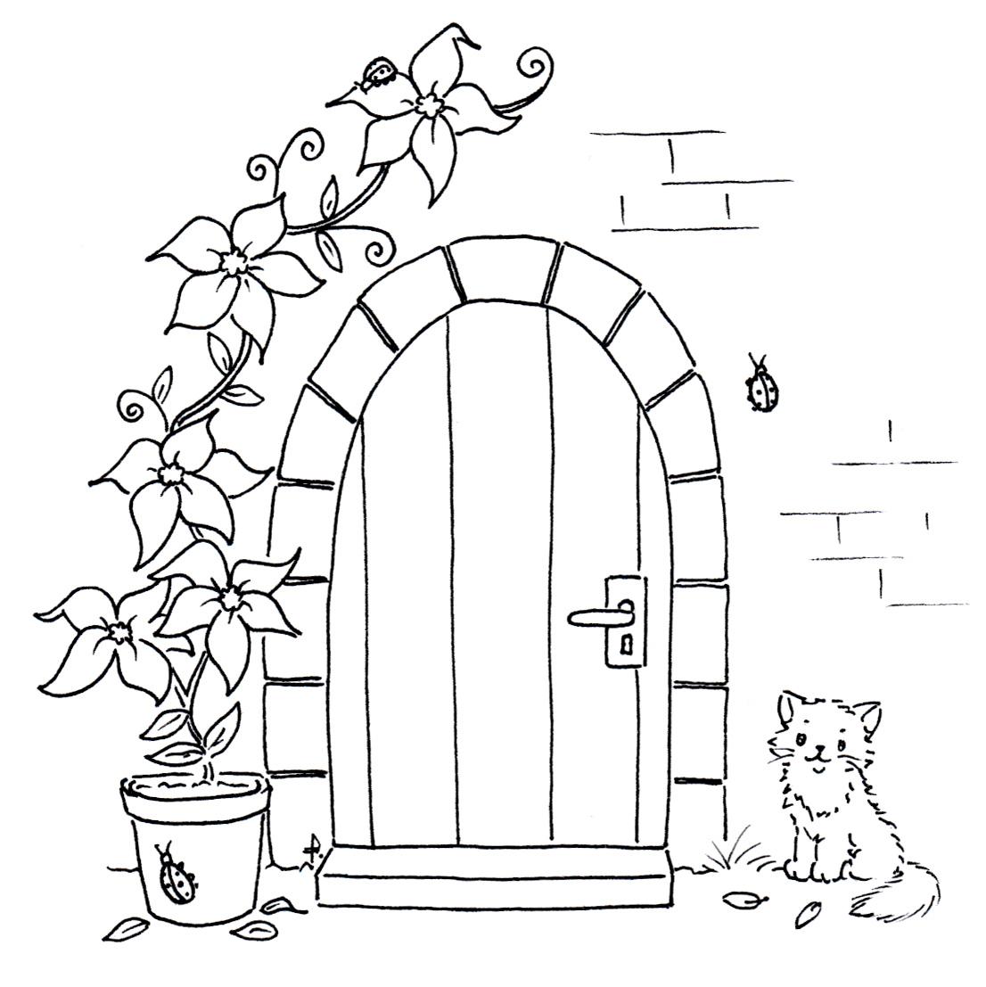 Раскраска дверей своими руками 20