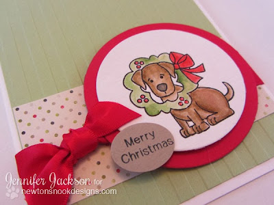 Merry Christmas Card using Canine Christmas Stamp set by Newton's Nook Designs