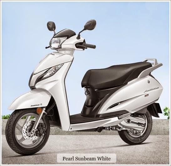 Honda Activa 125 cc white color