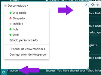 Como iniciar sesion nuevo Messenger Yahoo