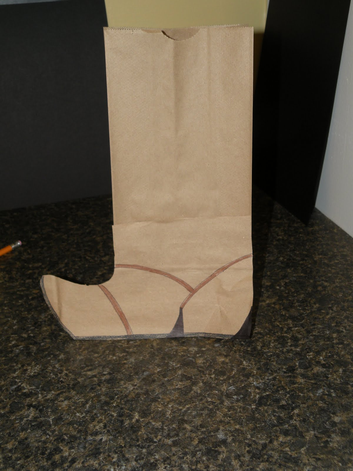 Just a Little Crafting....: Cowboy Boot Favor Bags!