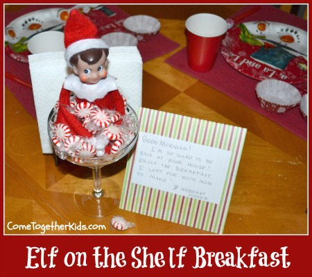 elf on the shelf ideas, elf on the shelf breakfast