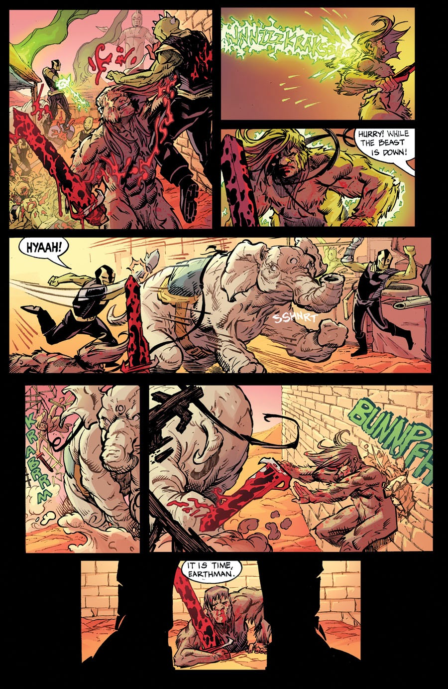 bigfoot sword of the earthman issue six issue 6 page three bigfoot comic book bigfoot graphic novel barbarian comic
