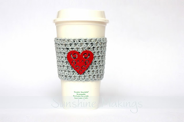Heart Coffee Cup Sleeve