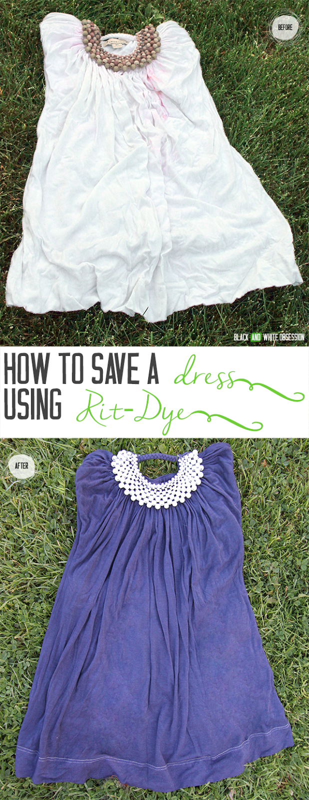 How to Save Clothing Using Rit Dye- Before and After | www.blackandwhiteobsession.com