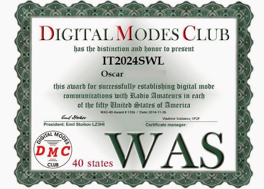 DMC Award 40 Stati USA