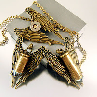 angel Wings bullet necklace