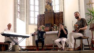 Steiner & Paulus avec Roedelius et Heidelinde Gratzl, More Ohr Less 2014 / photo S. Mazars
