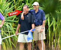 President Obama playing golf