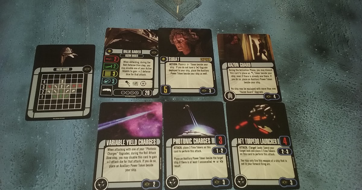 HALIK RAIDER STAR TREK ATTACK WING EXPANSION PACK Kazon