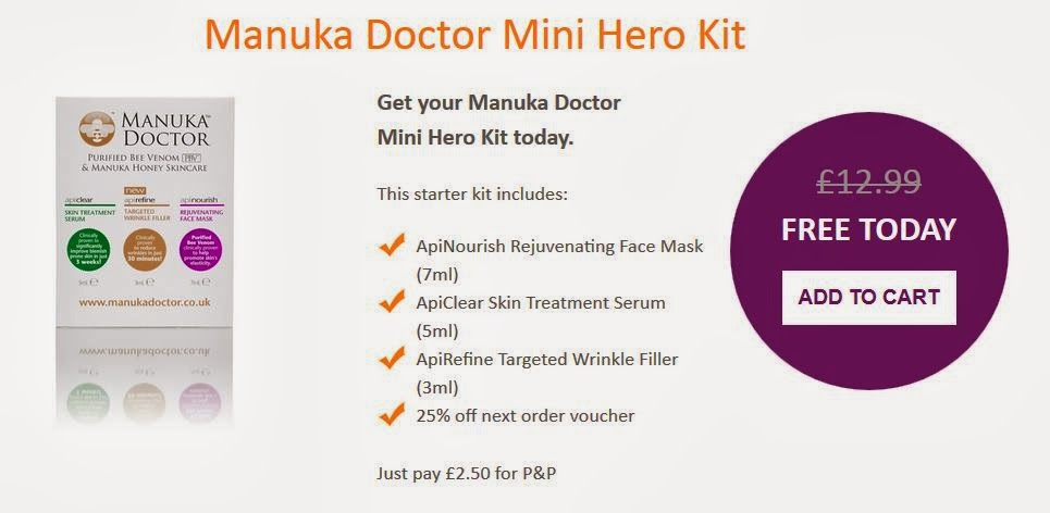 Free Manuka Doctor Mini Hero Sample Pack