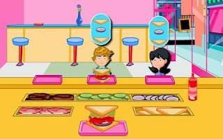 Screenshots of the Sandwich Shop for Android tablet, phone.