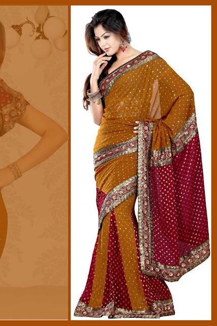 Wedding-Lehenga-Style-Saree