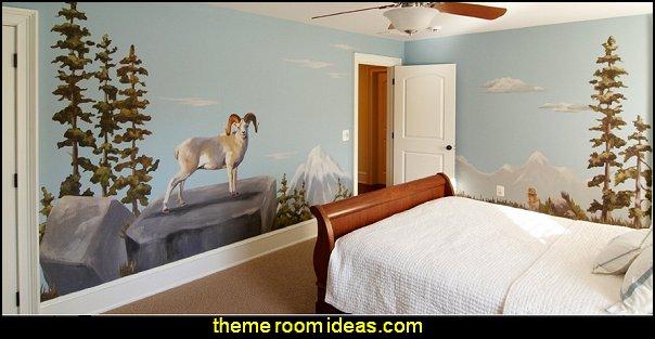 Wild Alaska  Alaskan Animal  wall - Reusable Wall Decoration