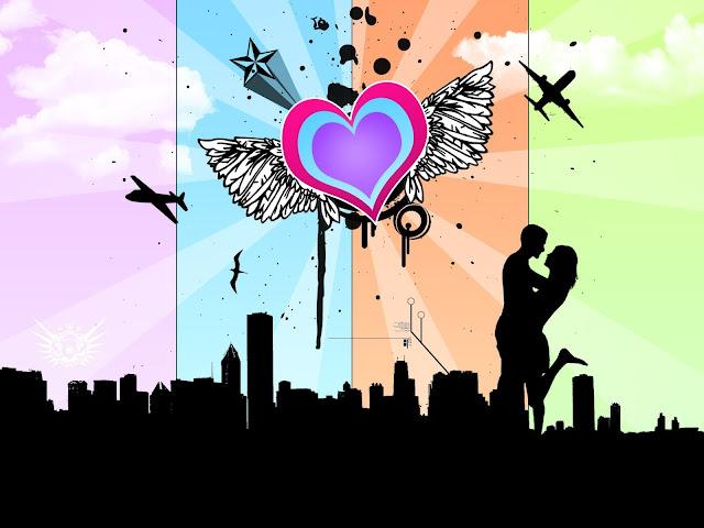 Corazon con Alas Dibujo Emo de Amor