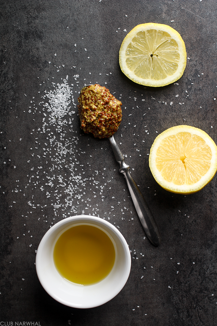 Lemon Mustard Vinaigrette | The perfect spring dressing via Club Narwhal