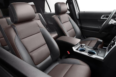 Interior of 2013 Ford Explorer.