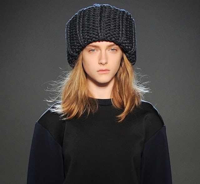 oversized chunky knit beanie hat victoria beckham fall rtw 2013 winter style