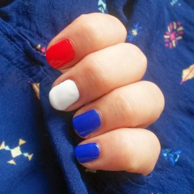 D maquillages blog beaut sur mes ongles aux beaux - Ongle rouge et blanc ...