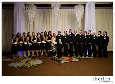 Bridal Party in Black & White l Theilen Photo l Atlantis Reno l Take the Cake Event Planning