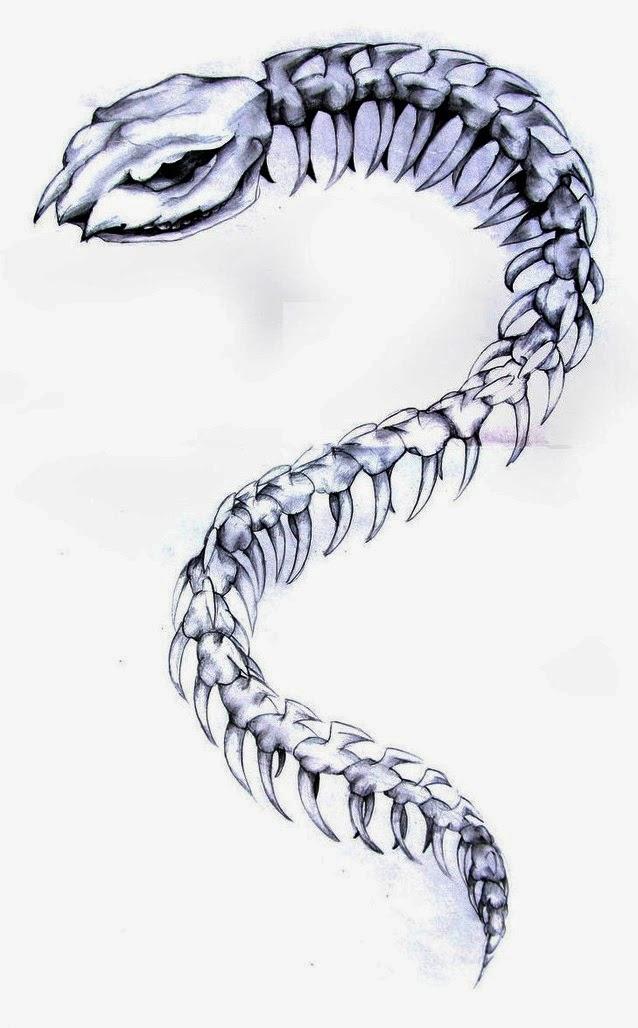 Tattoos Book: +2510 FREE Printable Tattoo Stencils: Snake ... Cobra Skeleton Tattoo