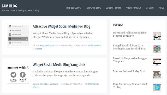 Template Blog Super Keren dan Fast Loading, Cocok Untuk Bermain Adsense