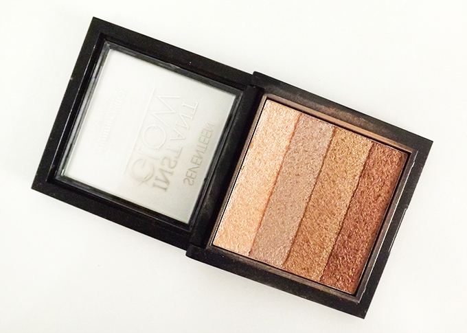 A photo of the Seventeen 17 Instant Glow Shimmer Brick in Gold Bronze