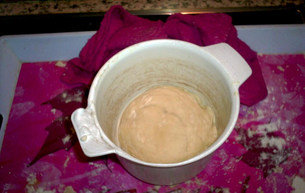 masa tras una hora fermentando
