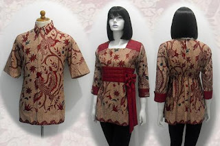 baju batik wanita modern