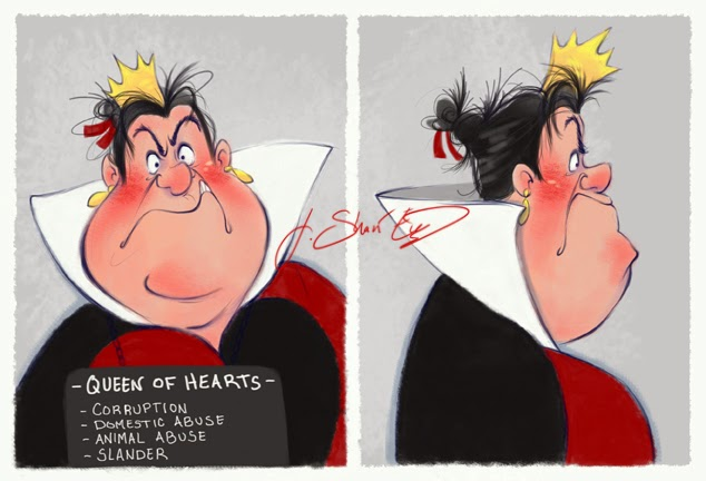 disney villain queen of hearts mugshot