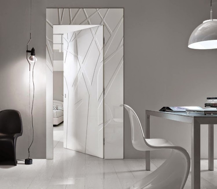 Modern White Interior Doors elegant modern interior doors made of wood and glass