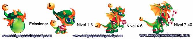 imagen del crecimiento del dragon elfo de navidad