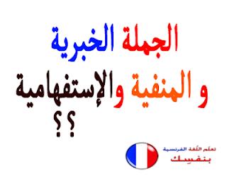 انواع الجمل - الجملة الخبرية والمنفية و الإستفهامية - تعلم اللغة الفرنسية  %D8%A7%D9%84%D8%AC%D9%85%D9%84%D8%A9+%D8%A7%D9%84%D8%AE%D8%A8%D8%B1%D9%8A%D8%A9+%D9%88%D8%A7%D9%84%D8%A5%D8%B3%D8%AA%D9%81%D9%87%D8%A7%D9%85%D9%8A%D8%A9+%D9%88+%D8%A7%D9%84%D9%85%D9%86%D9%81%D9%8A%D8%A9