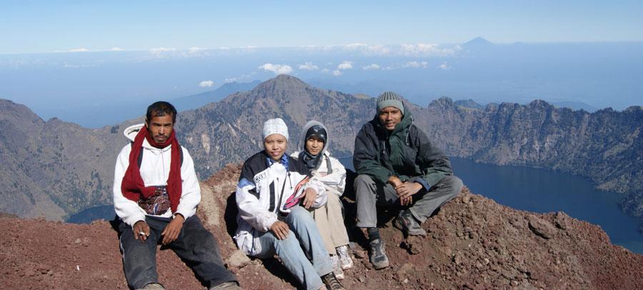 Simmit of Mount Rinjani 3726 meters altitude
