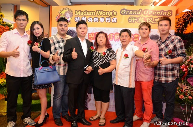 VIPs, partners, and owner during the grand opening of Madam Wong's Steamboat @ Dataran C180 Balakong