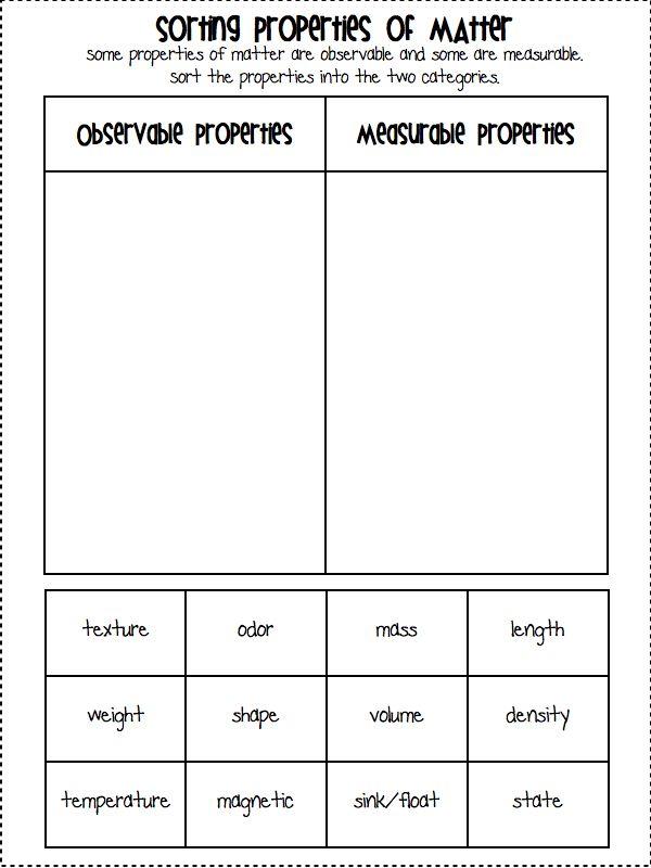 physical properties of matter worksheet third grade. Black Bedroom Furniture Sets. Home Design Ideas