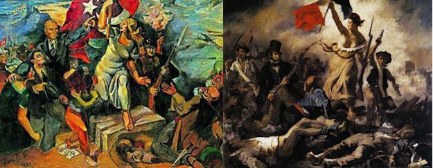 3 Liberties Leading the People | Delacroix, Izer, Gezi ...