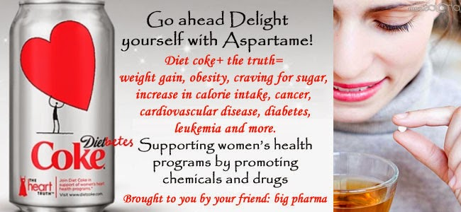 Let me list the very frightening side effects of aspartame: