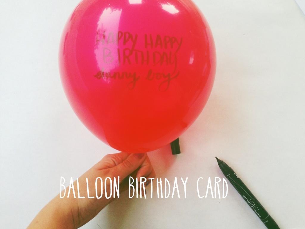 Diy balloon birthday card shakeshakee diy balloon birthday card bookmarktalkfo Choice Image