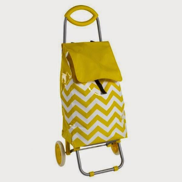 carrito de la compra chevron amarillo