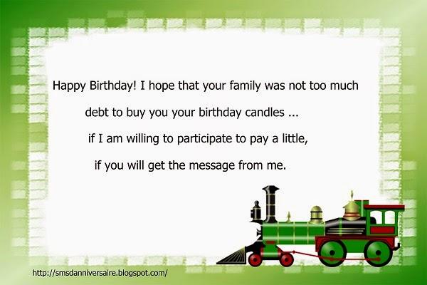 message d'anniversaire en anglais