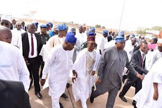 Governors El-Rufai, Abubakar, Jibrilla welcome Buhari in Adamawa [PHOTOS]