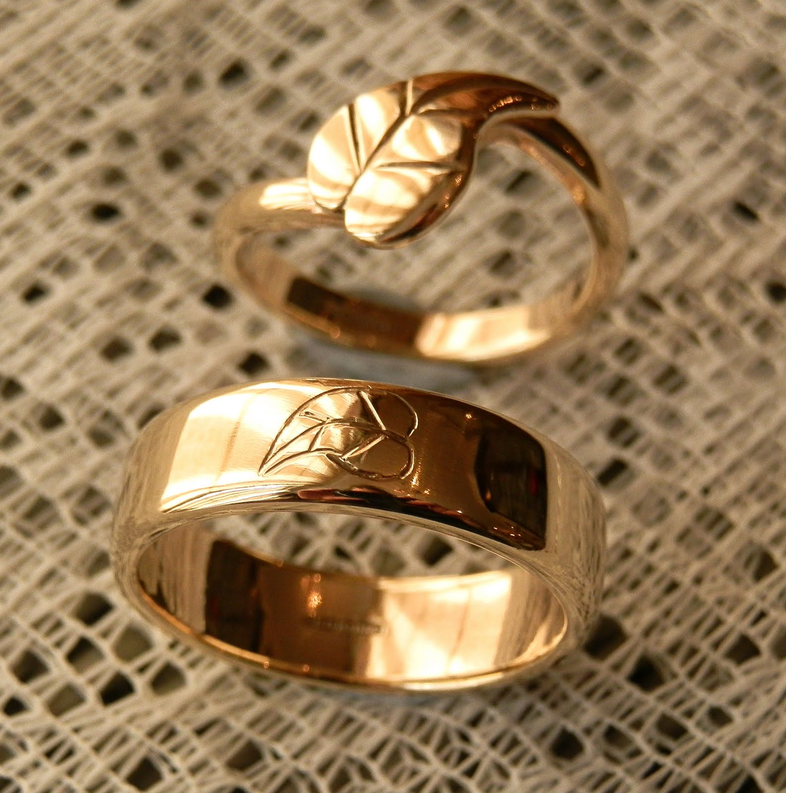 collections by dsc birdseye engagement wedding handmade maple rings jewelry leaf beth millner ring tapered