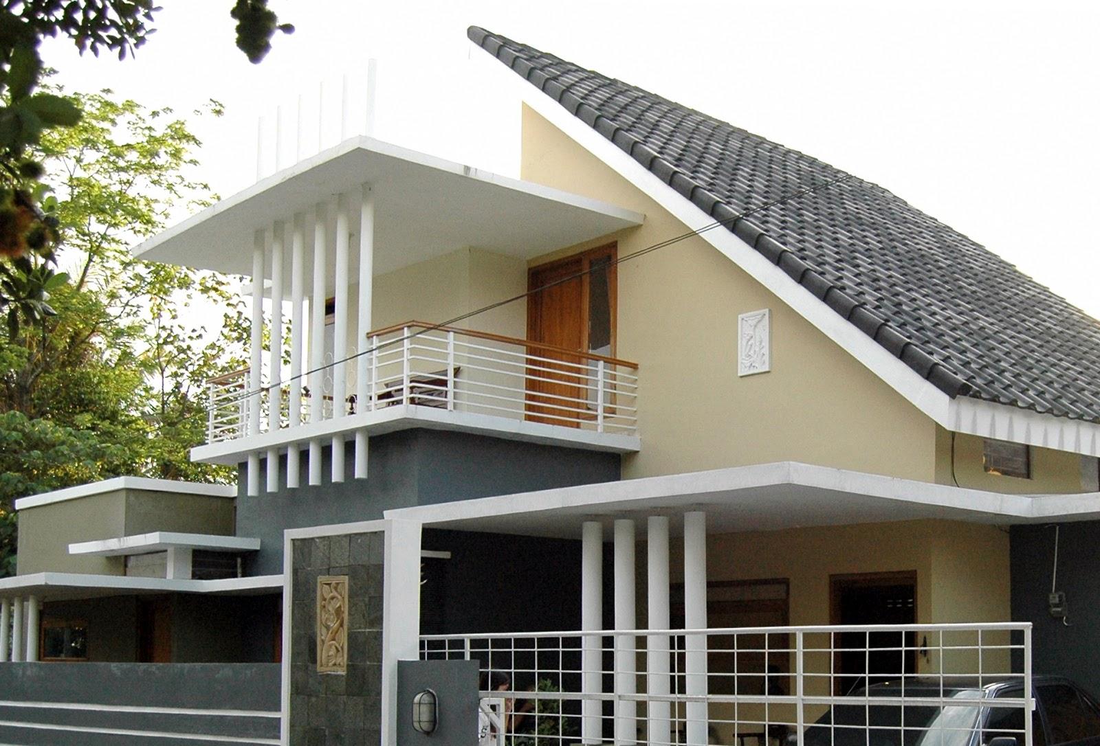 model rumah minimalis 2 lantai atap miring | desain rumah minimalis